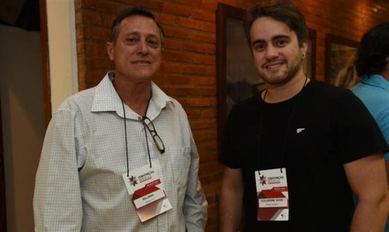Nei Balbino, da Balbino Tour, e Guilherme Goss, da Reisen Turismo
