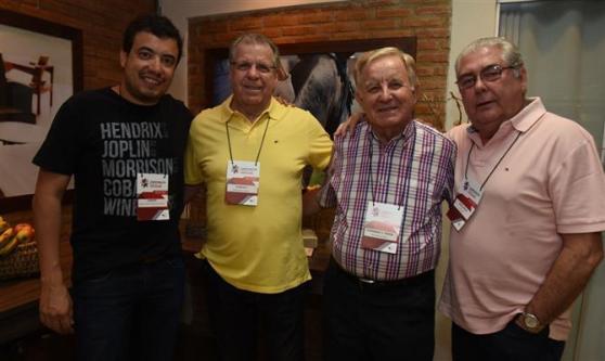 Luiz Carlos Gonçalves Junior, da Hangar Travel, Gonzalo Horta Perez, do Clube de Turismo Bauru, Fernando Parra, da Agência Fernando, e José Carlos de Azevedo, da Iza Travel