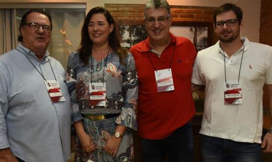 José Roberto Pitol, da Pitoltur, Andrea Guimarães, da Perfil Viagens e Turismo, Antonio Carlos Accari, da Village Brasil