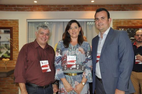Marcelo Mantera da ABC Turismo, Andrea Guimarães da Perfil Viagens e Marcelo Oliveira da Aviesp