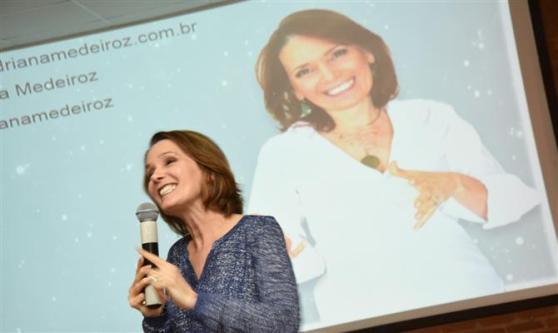 Adriana Medeiroz ministrou a palestra motivacional final do evento