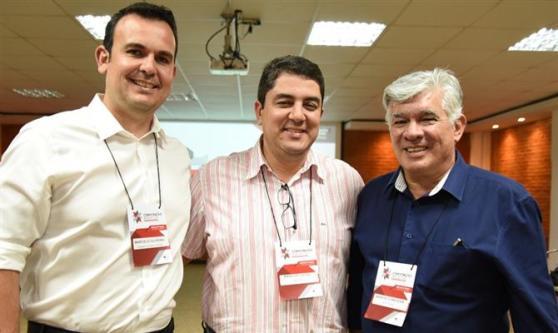 Marcelo Oliveira. da Aviesp, Marcos Lucas, da Vencestur, e Marcelo Matera, da ABC Turismo