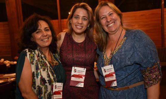 Luciana Scagliusi, da You Travel, Cris Nani, da Nani Turismo, e Rosana Grande, da Vitur