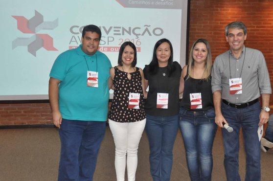 Danilo Nonato, Juliana Assumpção, Aline Haranaka, Kelly Castange e Fernando Souza, da AVIESP