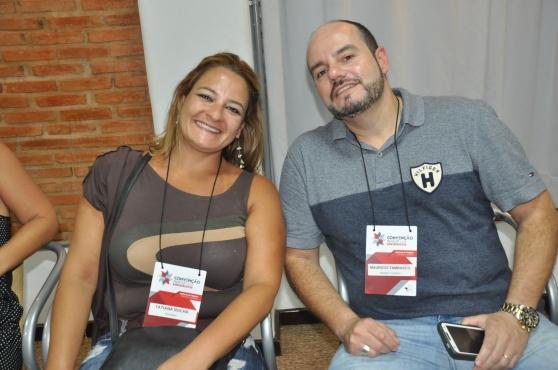 Tatiana Rocha, da Rochatur e Mauricio Tambasco, da Asastur