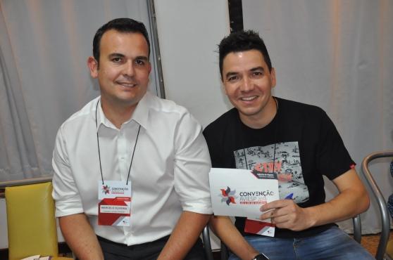 Marcelo Oliveira, da Aviesp e Rafael Biancareli, da Sonho Real