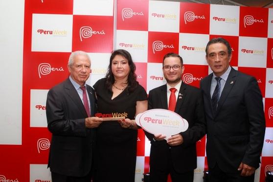 Vicente Rojas, embaixador do Peru no Brasil. Milagros Ochoa. vice-ministro de Comércio Exterior do Peru, Edgar Vasquez. Antonio Castillo