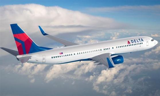 Boeing 737 é uma das aeronavez da Delta com wi-fo. Toda frota ganhou a tecnologia.
