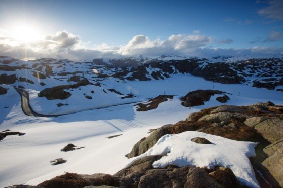 Norway landscape at Lysebotn -Foto por iStock / Jens Fersterra