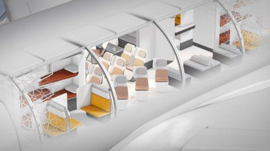 Vários módulos criariam diversos ambientes dentro da aeronave