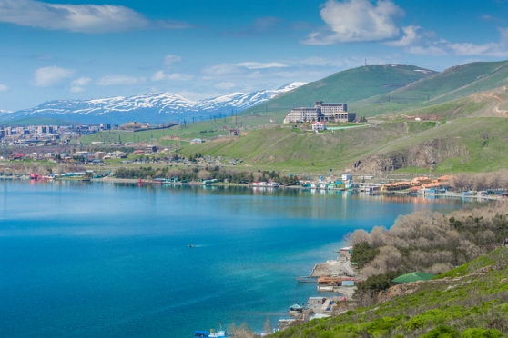 Sevan lake in Armenia.