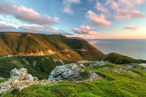 Green Cliffs Overlooking Cabot Trail