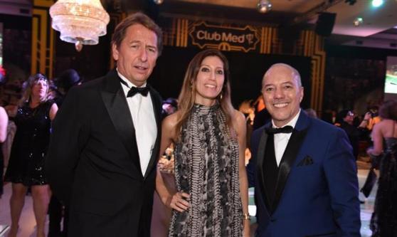 Janyck Daudet, Carolina Correia e Marco Oliva, todos do Club Med