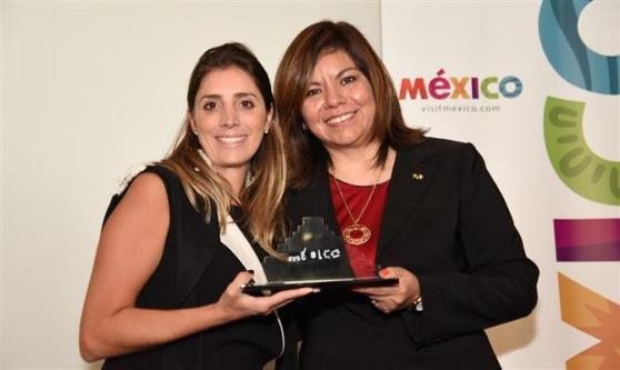Paula Rorato, da CVC, e Diana Pomar, do Conselho de Promoção Turística do México