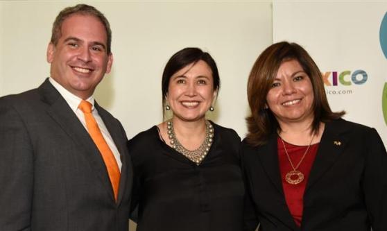 David Ecija, da Hilton Hotels, Margarita Perez Villaseñor, cônsul geral do México em São Paulo, e Diana Pomar
