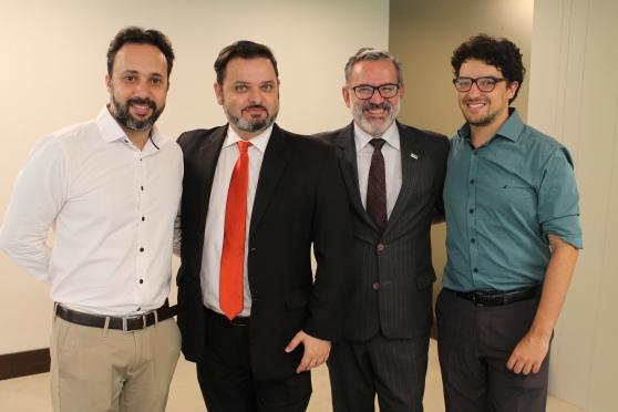 Alex Bernardes (Editora Via), Sandro Rodrigo (Meliá) , Clovis Casemiro (IGLTA) e Raul Almeida ( AccorHotels)