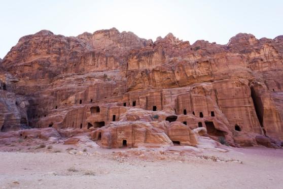Street facades tombs. Petra. Jordan
